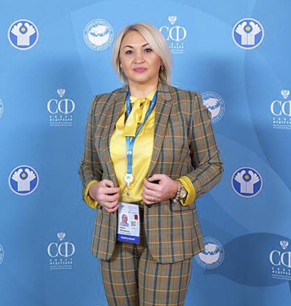 Председатель Астраханского регионального отделения Общероссийской общественно – государственной организации «Союз женщин России»