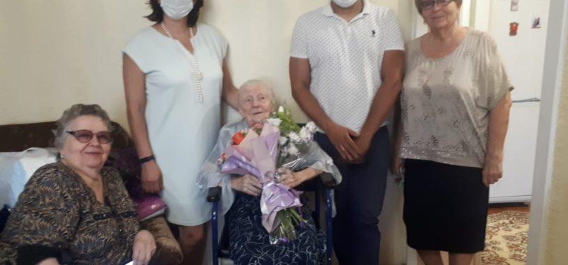 Долгожительниц Ленинского района поздравили с днем рождения!