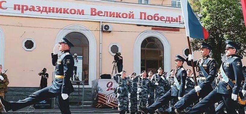 На центральной площади Астрахани прошел парад Победы!